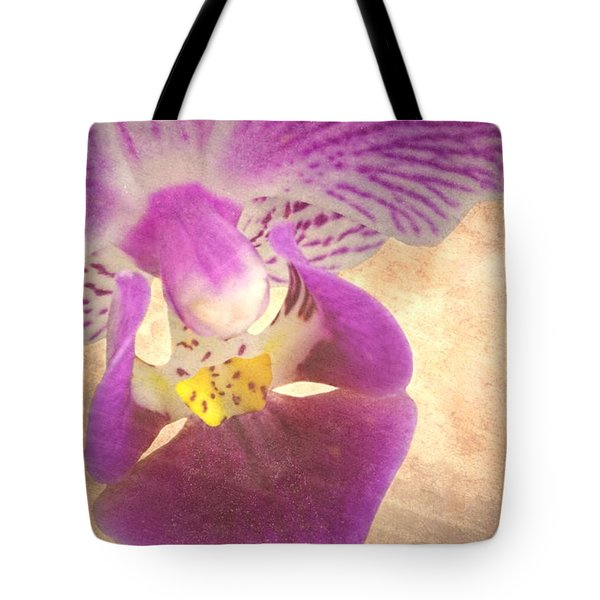 Purple Orchid 1 Tote Bag by Rudy Umans