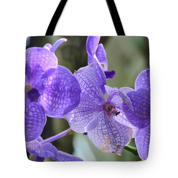 Purple Orchids Tote Bag by Kathleen Struckle
