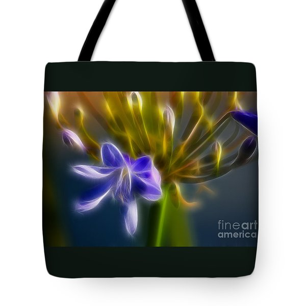 Purple Passion 6318-fractal Tote Bag by Gary Gingrich Galleries