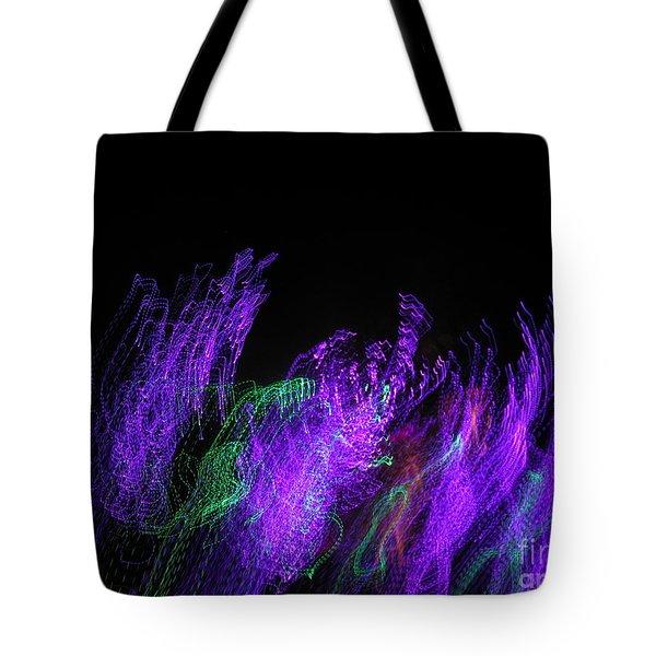 Purple Passion. Dancing Lights Series Tote Bag by Ausra Huntington nee Paulauskaite