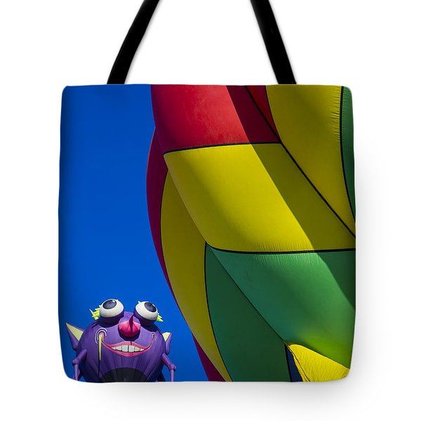 Purple people eater smiling Tote Bag by Garry Gay