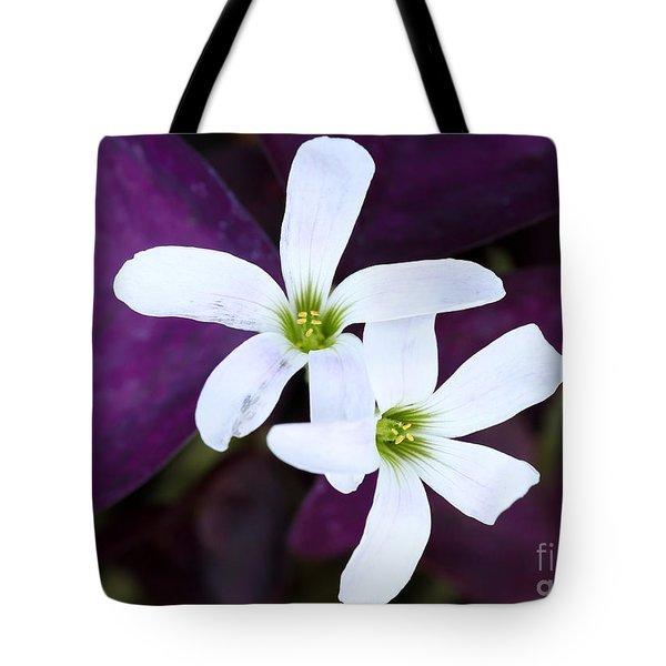 Purple Queen Flowers Tote Bag by Sabrina L Ryan