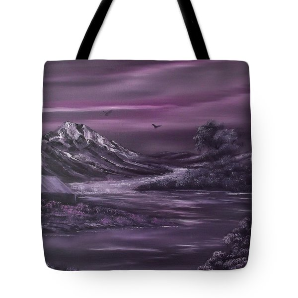 Purple Rain 2 Tote Bag by Cynthia Adams