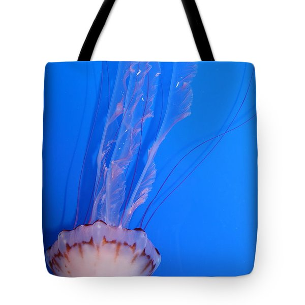 Purple Striped Jelly Fish 5D24934 Tote Bag by Wingsdomain Art and Photography