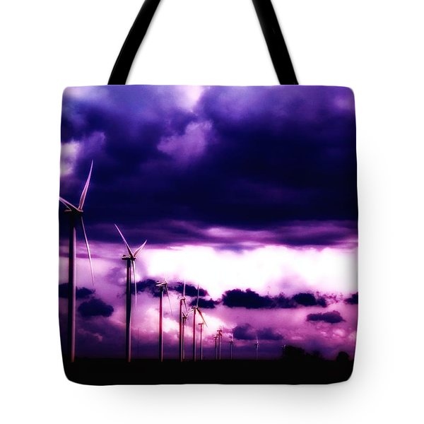 Purple Winds Tote Bag by Todd and candice Dailey