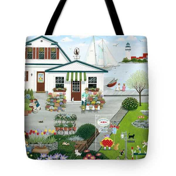 Purr-fect Blooms  Tote Bag by Wilfrido Limvalencia