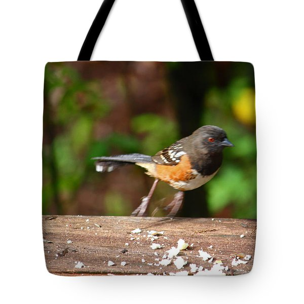 Push Off Before Take Off Tote Bag by Kym Backland
