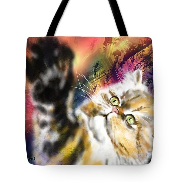 Pussy Tote Bag by Francoise Dugourd-Caput