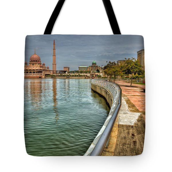 Putra Mosque Tote Bag by Adrian Evans