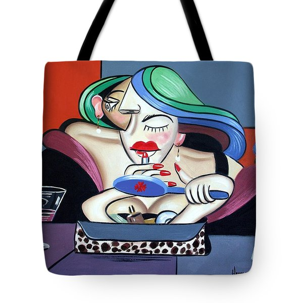 Puttin It On Tote Bag by Anthony Falbo