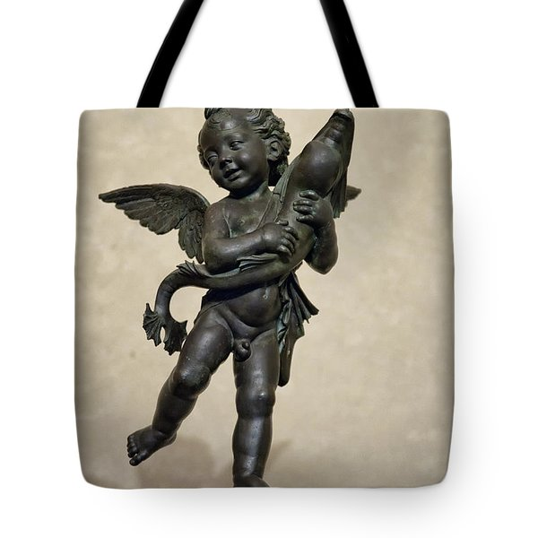 Putto With Dolphin by Verrocchio Tote Bag by Melany Sarafis