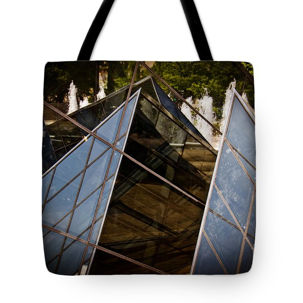 Pyramids Reflected Tote Bag by Tom Gari Gallery-Three-Photography
