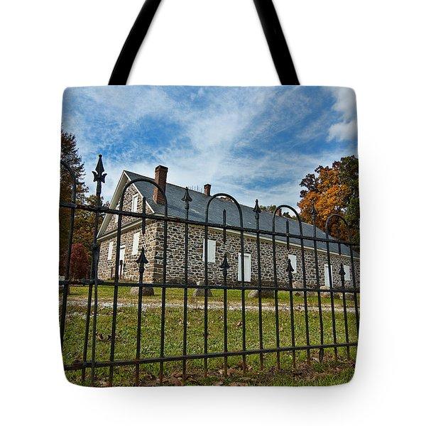 Quaker Meeting House - Warrington Tote Bag by Mark Jordan