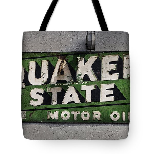 Quaker State Motor Oil Tote Bag by Janice Rae Pariza