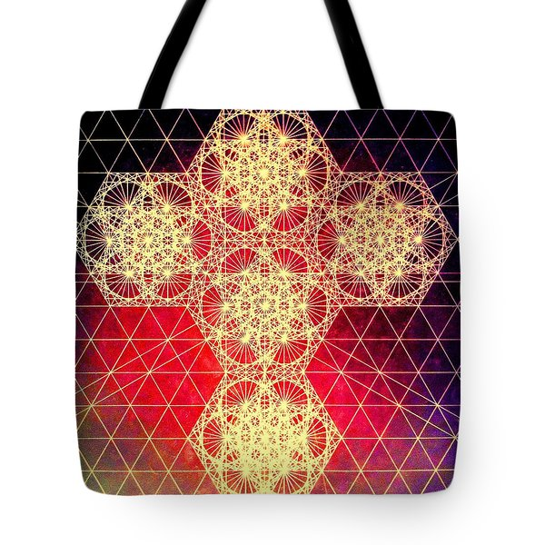 Quantum Cross Hand Drawn Tote Bag by Jason Padgett