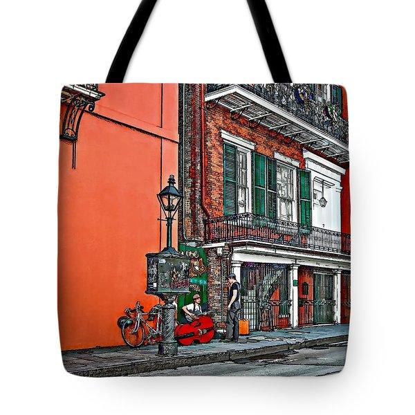 Quarter Time Painted 2 Tote Bag by Steve Harrington