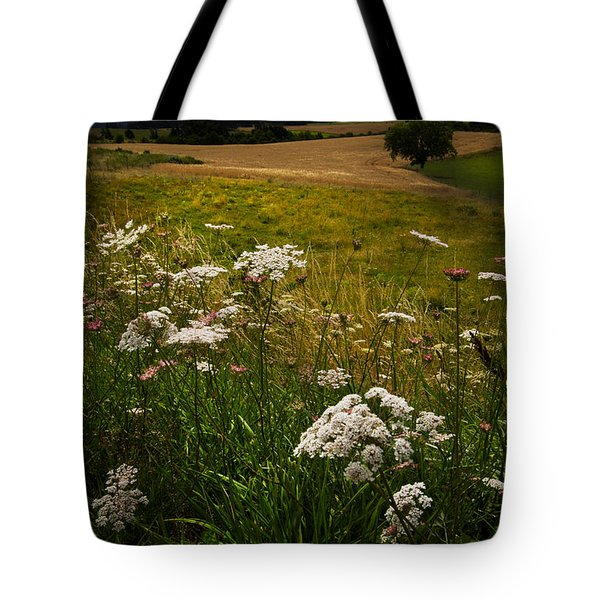 Queen Anne's Lace Tote Bag by Debra and Dave Vanderlaan