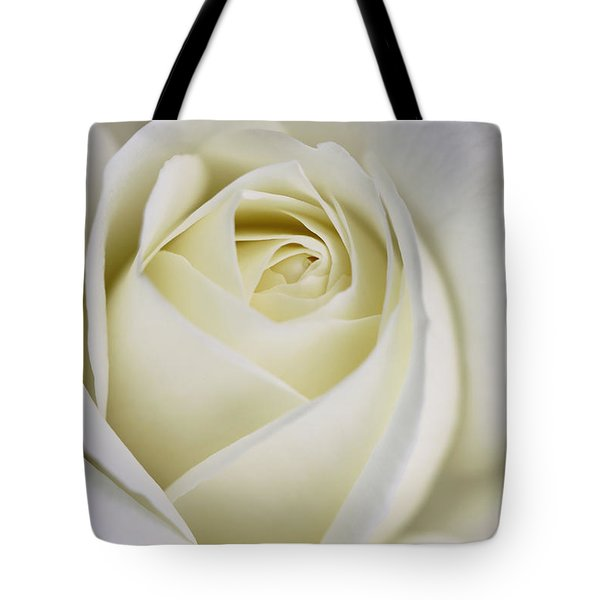 Queen Ivory Rose Flower 2 Tote Bag by Jennie Marie Schell