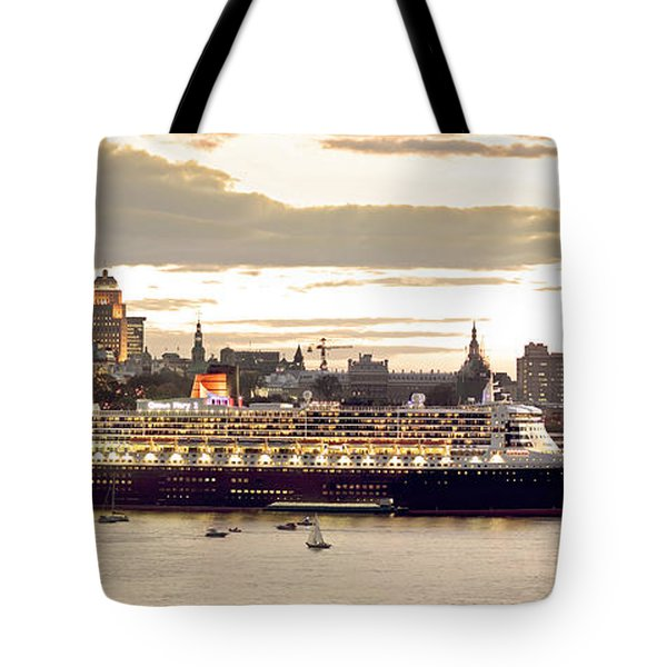 Queen Mary II Cruise Ship, Chateau Tote Bag by Jean Desy