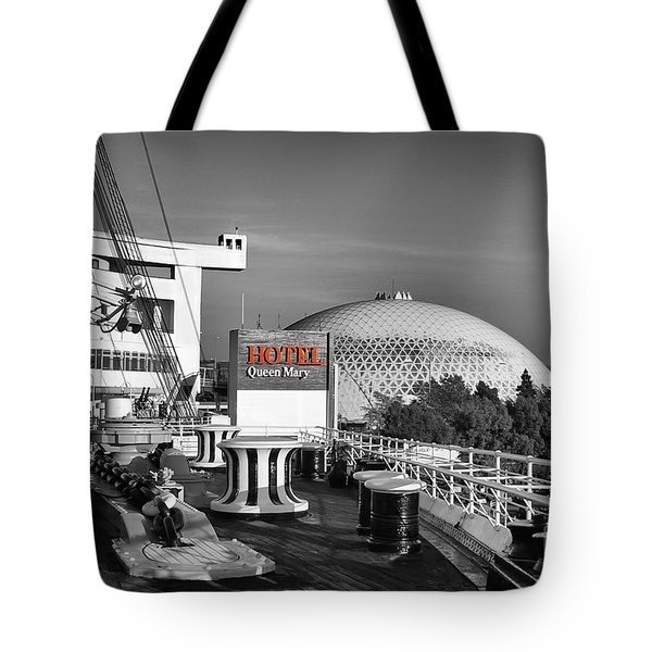 Queen Mary On Deck Tote Bag by Mariola Bitner