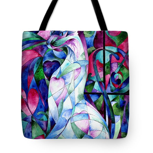 Queen Of Hearts Tote Bag by Sherry Shipley