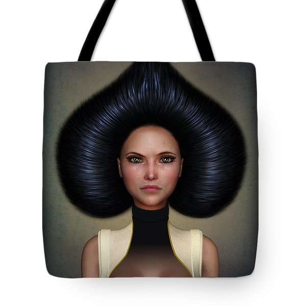 Queen Of Spades Tote Bag by Britta Glodde