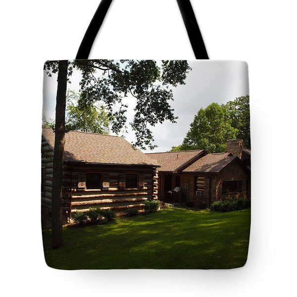 Quiet Cabin On A Hill Tote Bag by Robert Margetts