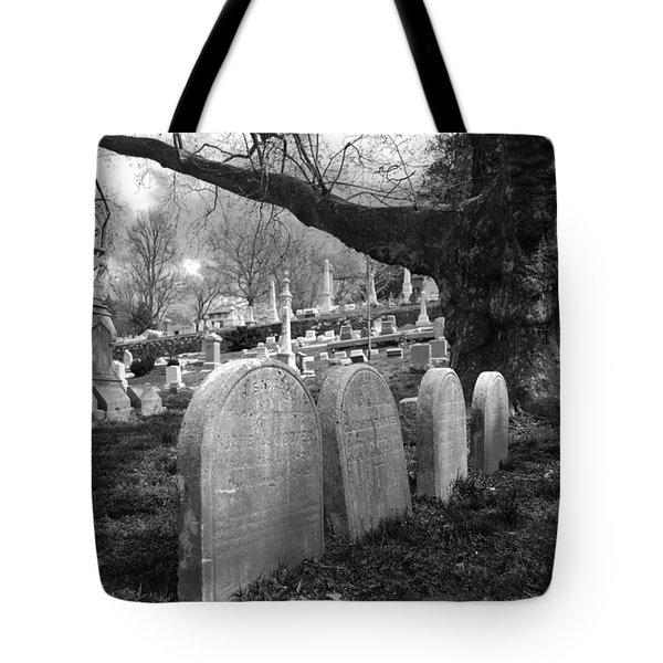 Quiet Cemetery Tote Bag by Jennifer Lyon