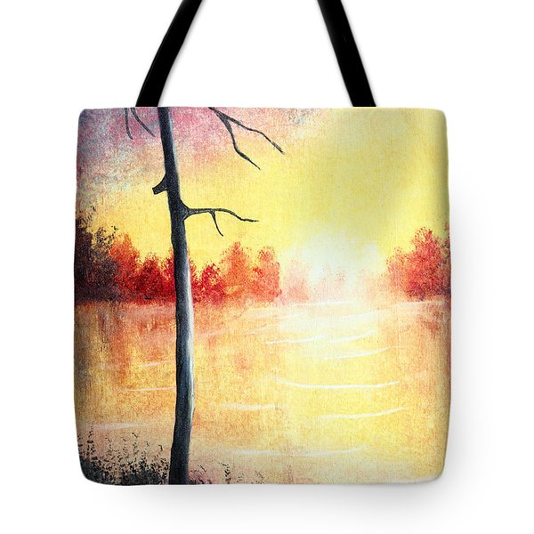 Quiet Evening By The River Tote Bag by Nirdesha Munasinghe
