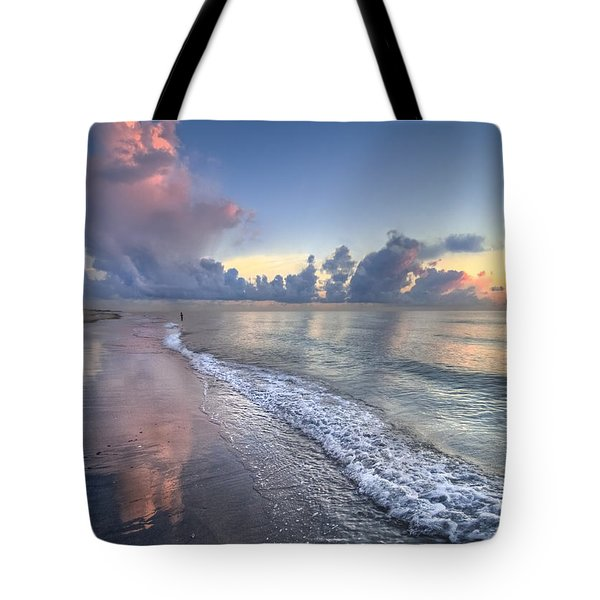 Quiet Morning Tote Bag by Debra and Dave Vanderlaan