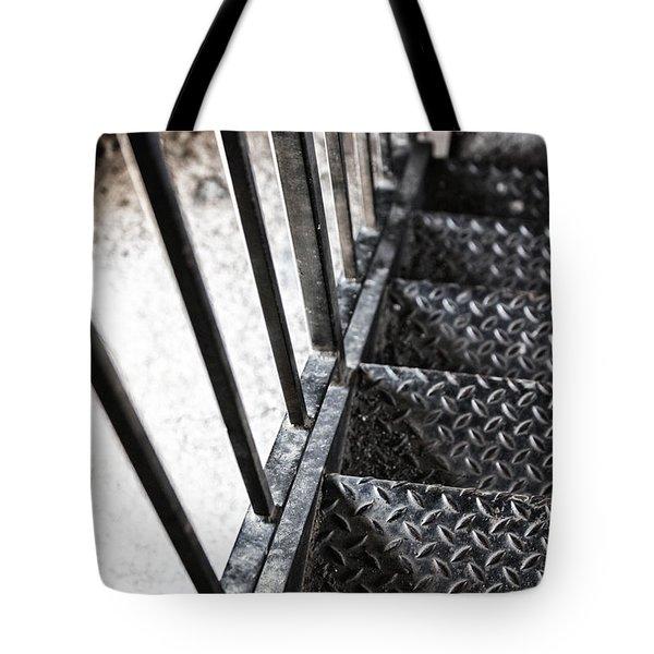 Quiet Stairwell Tote Bag by Karol Livote