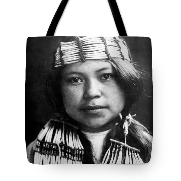 Quinault Indian girl circa 1913 Tote Bag by Aged Pixel