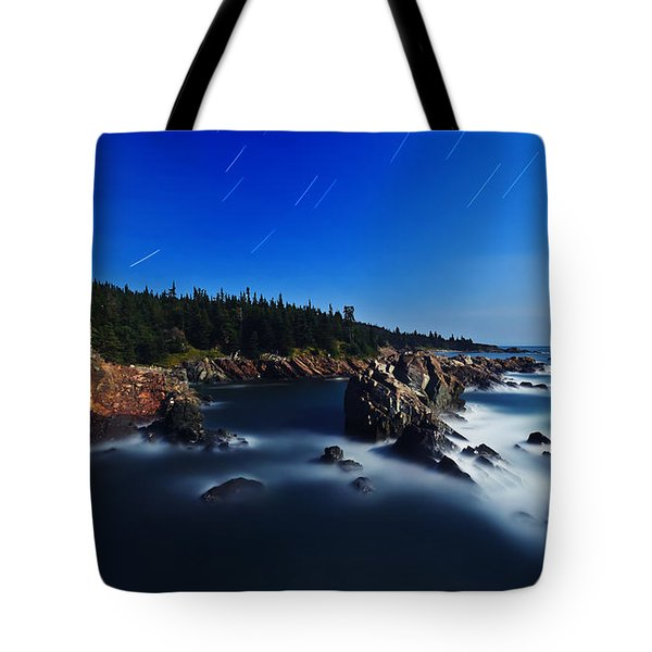 Quoddy Coast by Moonlight Tote Bag by Bill Caldwell -        ABeautifulSky Photography