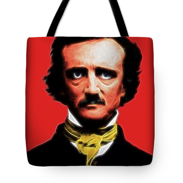 Quoth The Raven Nevermore - Edgar Allan Poe - Electric Tote Bag by Wingsdomain Art and Photography