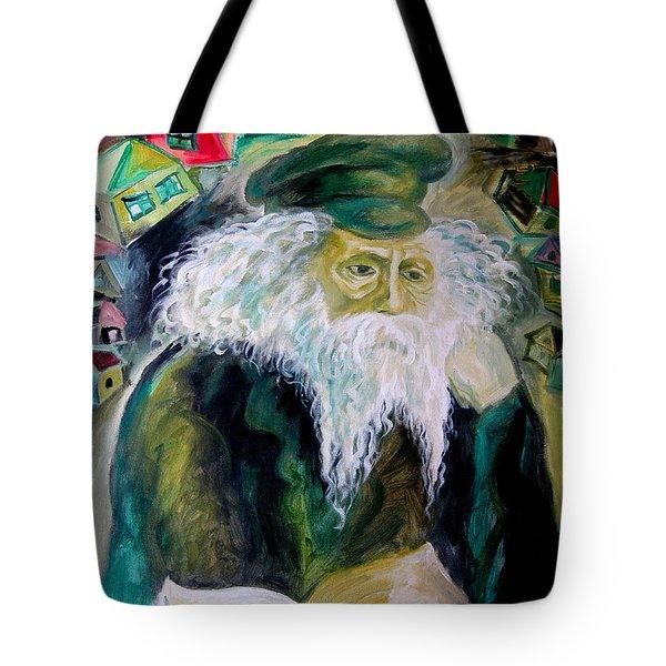 Rabbi Yosef Rosen The Rogatchover Gaon Tote Bag by  Leon Zernitsky