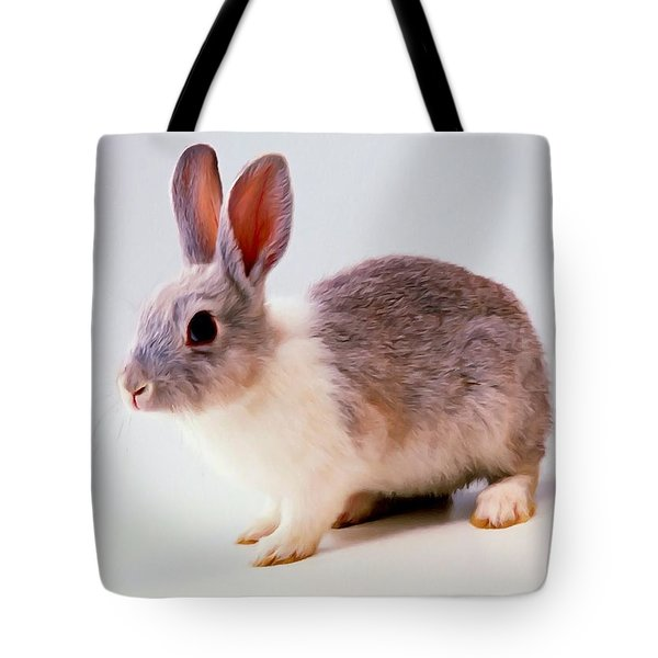Rabbit 2 Tote Bag by Lanjee Chee