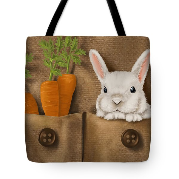 Rabbit Hole Tote Bag by Veronica Minozzi
