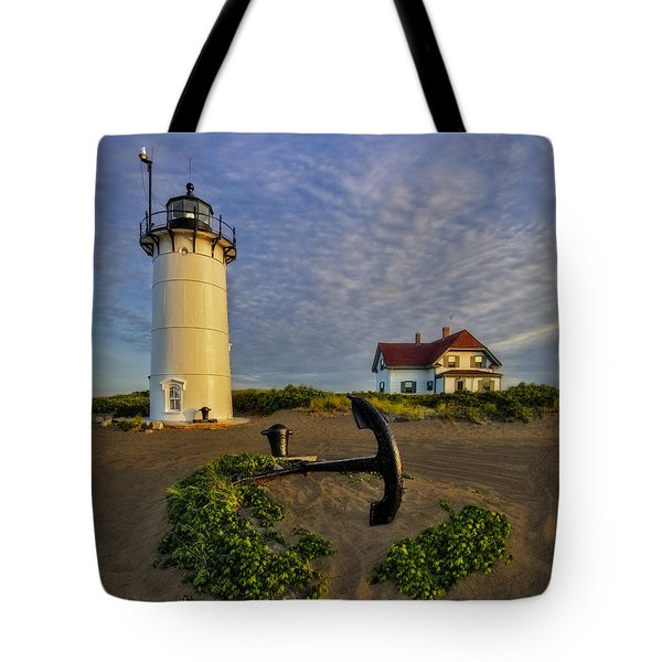 Race Point Lighthouse Tote Bag by Susan Candelario