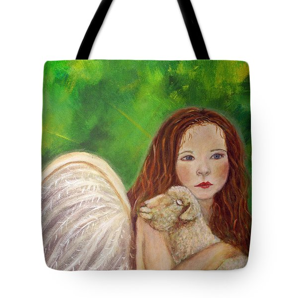 Rachelle Little Lamb The Return To Innocence Tote Bag by The Art With A Heart By Charlotte Phillips