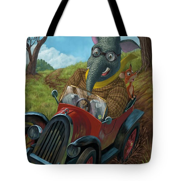 racing car animals Tote Bag by Martin Davey