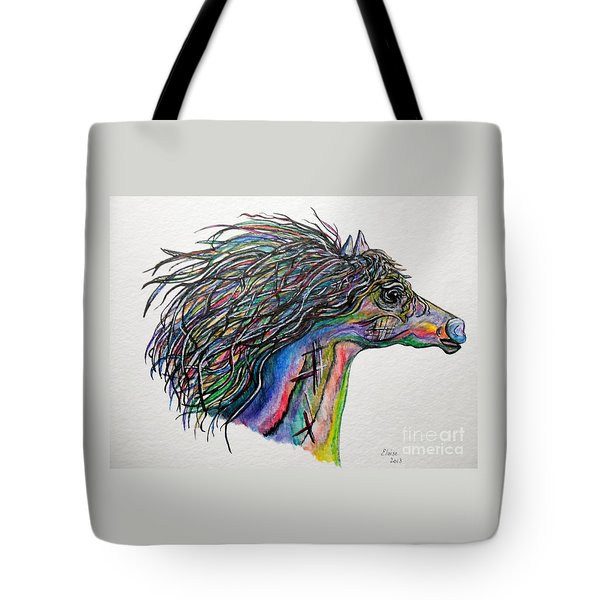 Racing The Wind ... A Story Painting Tote Bag by Eloise Schneider