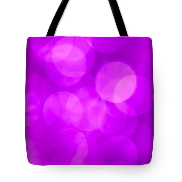 Radiant Orchid Abstract Tote Bag by Jan Bickerton