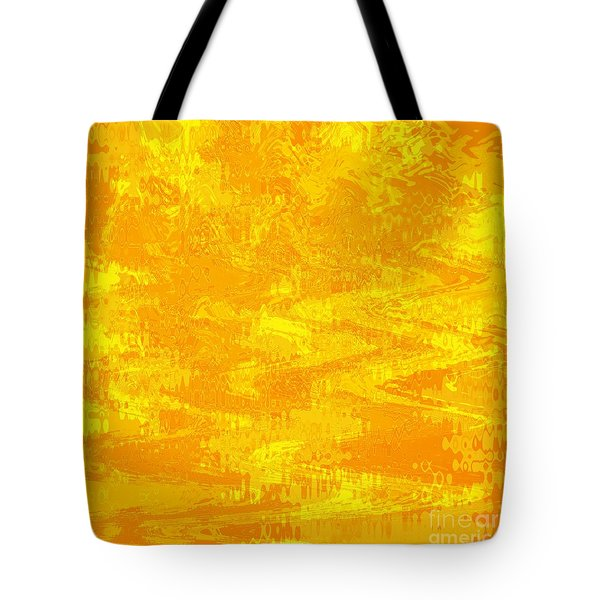 Radiating Sunshine Colors - Abstract Art Tote Bag by Carol Groenen