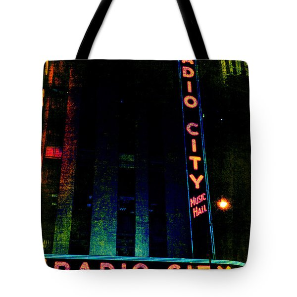 Radio City Grunge Tote Bag by Joann Vitali