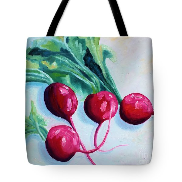 Radishes Tote Bag by Todd Bandy