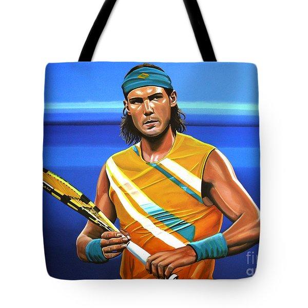 Rafael Nadal Tote Bag by Paul Meijering