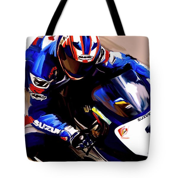 Rage With Machine Mat Mladin Tote Bag by Iconic Images Art Gallery David Pucciarelli