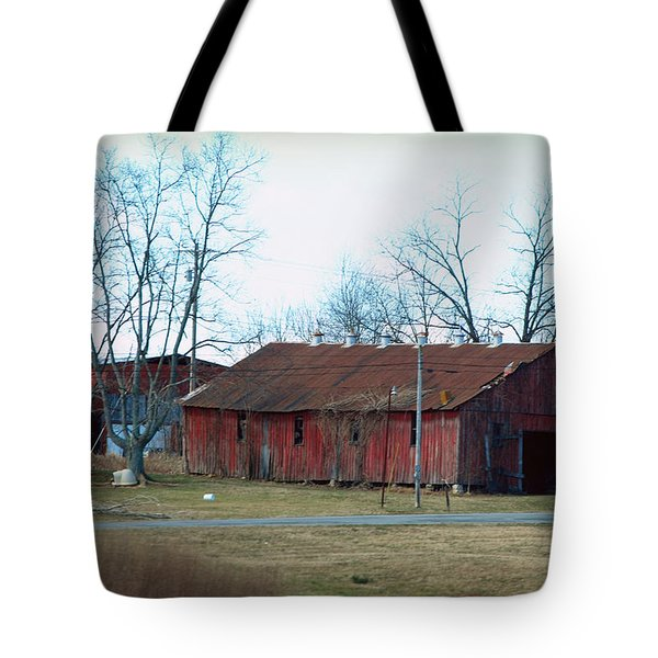 Ragged Red Shed I Tote Bag by Paulette B Wright