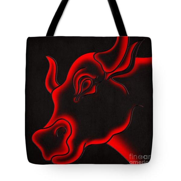 Raging Bull Tote Bag by Bedros Awak
