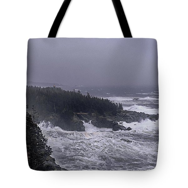 Raging Fury At Quoddy Tote Bag by Marty Saccone